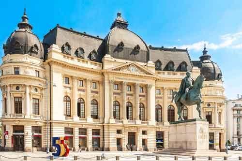 Grand Bucharest City Tour University-Library-Bucharest